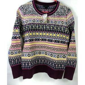 J. Crew Fair Isle Womens Sweater Sz S Wool